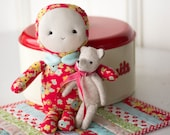 PDF Pattern - 'Baby Bear' - Fabric Doll/Softie with Felt Bear and Mini Quilt - Instant Digital Download - Plush Children's Toy