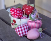 PDF Pattern - 'A Dapple of Apples'  - Basket of Fabric Apples Softie  - Instant Digital Download - Plush Children's Toy