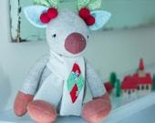 PDF Pattern - 'Mistletoe'  -  Felt Christmas Reindeer Softie  - Instant Digital Download - Plush Children's Toy - Gift Idea