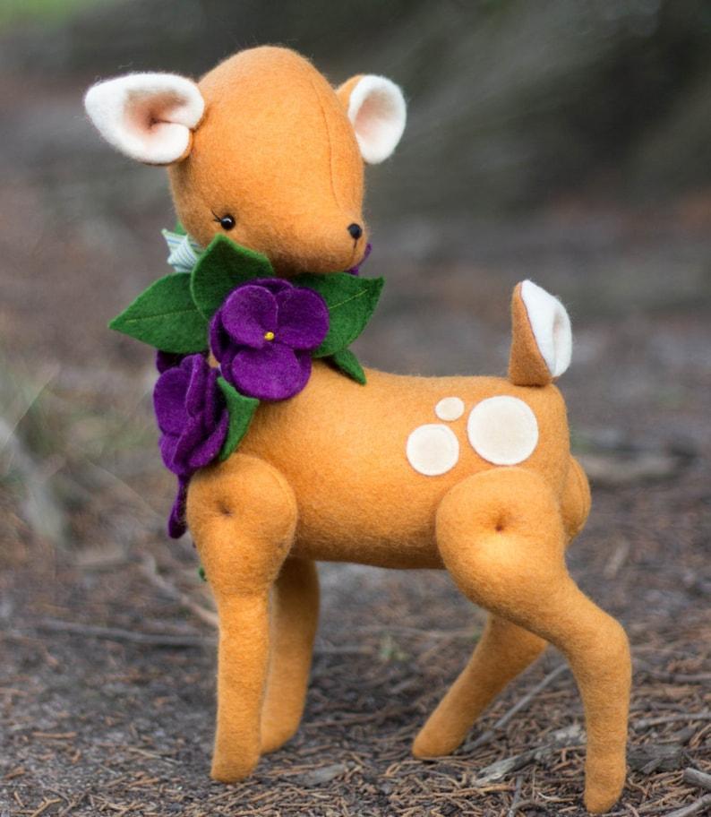PDF Pattern  'Violet'    Felt Deer Softie with Felt image 0