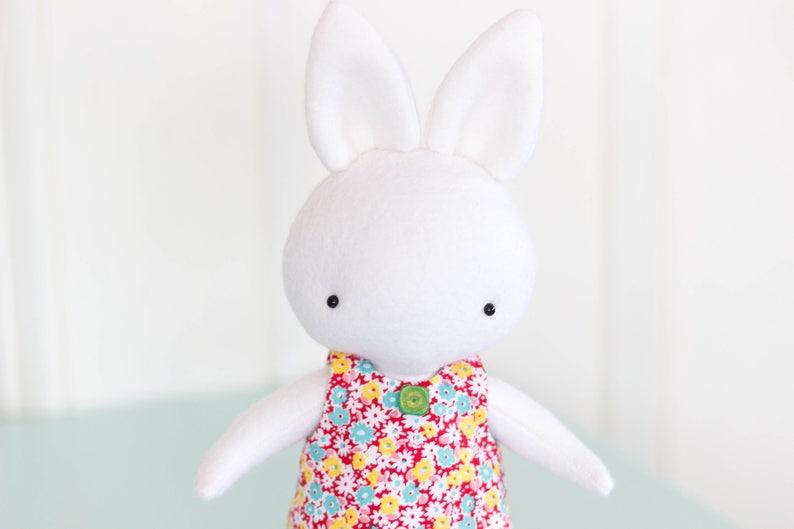 PDF Pattern  'Sukie'  Felt Rabbit Miffy Tribute image 0