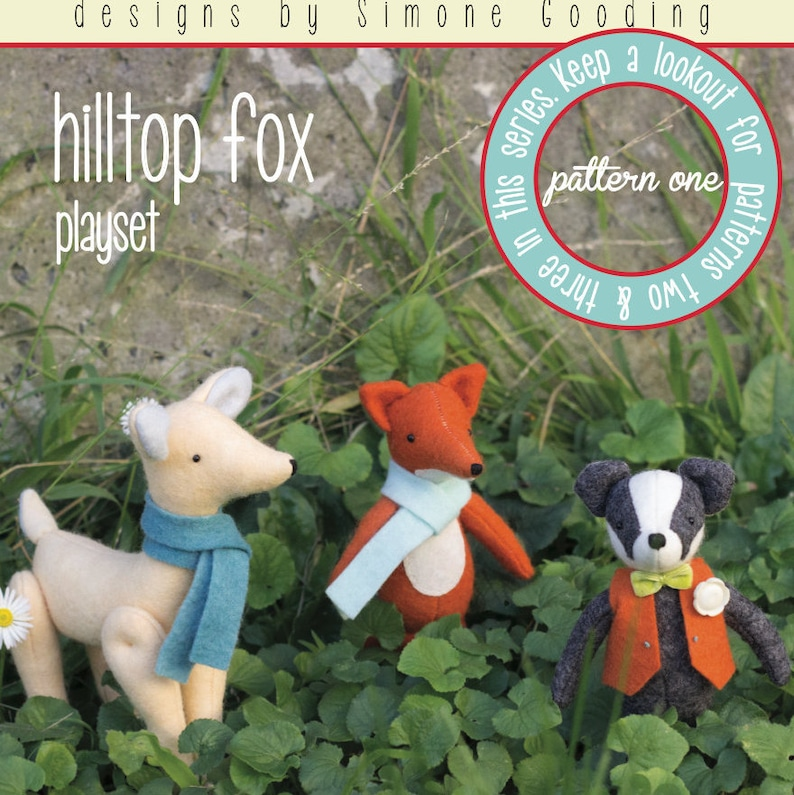PDF Pattern  'Hill Top Fox  Pattern One'  Felt image 0