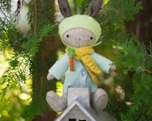 PDF Pattern - 'Thistledown Rabbits '- Felt Rabbit/Bunny Softie  - Instant Digital Download - Plush Children's Toy - Easter Gift Idea