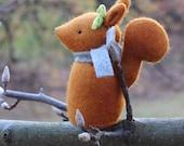 PDF Pattern - 'Hill Top Fox - Pattern Two' - Felt Rabbit, Squirrel and Hedgehog Softie - Instant Digital Download - Plush Toy