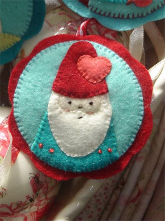 Felt Decoration Christmas Tree Sewing Craft PATTERN SUGARPLUM MADALLIONS