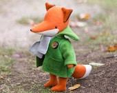 PDF Pattern  -  'Heathcliff' - Felt Fox Softie  - Instant Digital Download - Plush Children's Toy