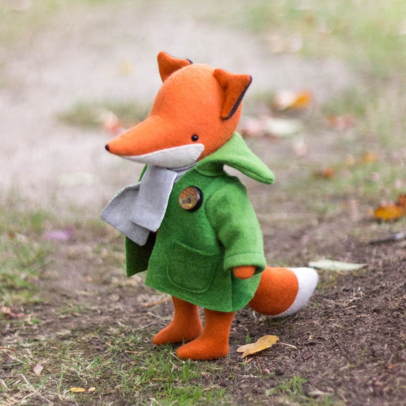 PDF Pattern    'Heathcliff'  Felt Fox Softie   image 0