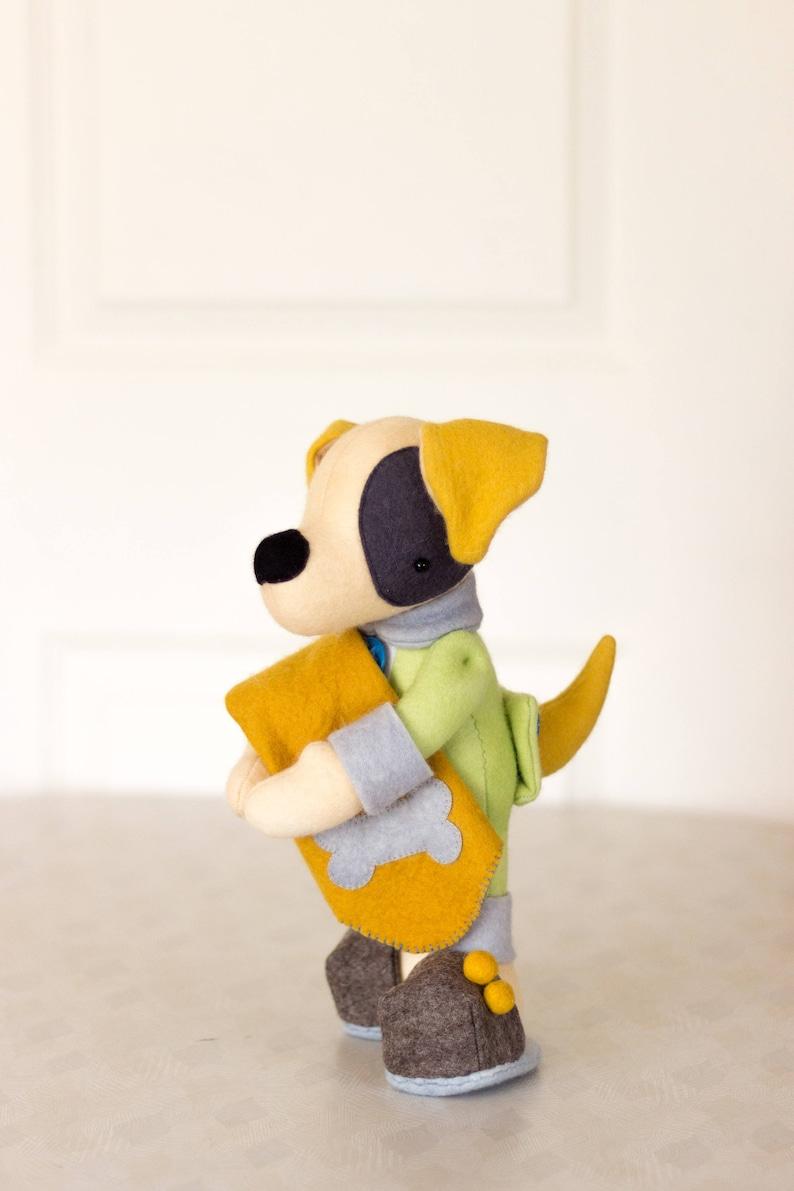 PDF Pattern  'Slipper'  Felt Dog Softie felt image 0