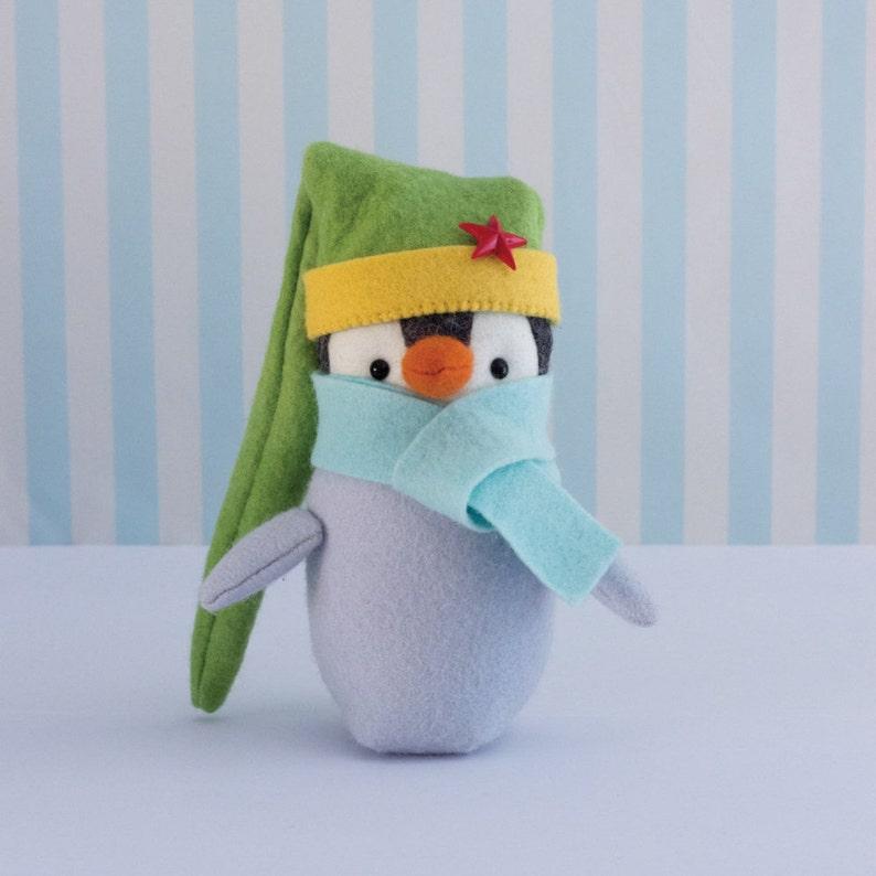 PDF Pattern  'Meep'  Felt Penguin Softie   Instant image 0