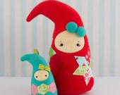 PDF Pattern - 'Imps' - Felt Christmas Elves Hanging Decoration Softie - Instant Digital Download - Plush Child's Toy - Gift Idea