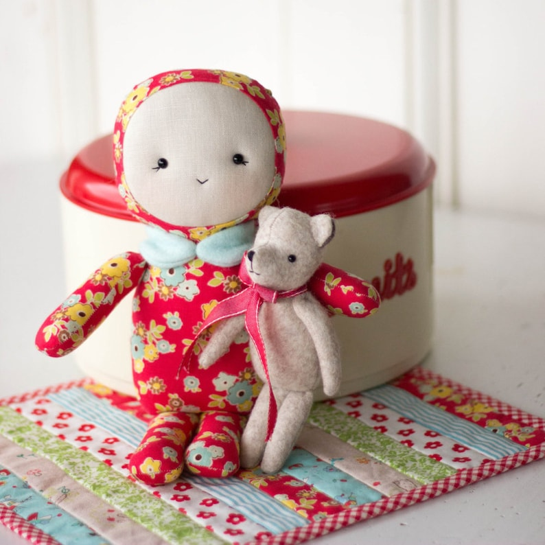PDF Pattern  'Baby Bear'  Fabric Doll/Softie with image 0