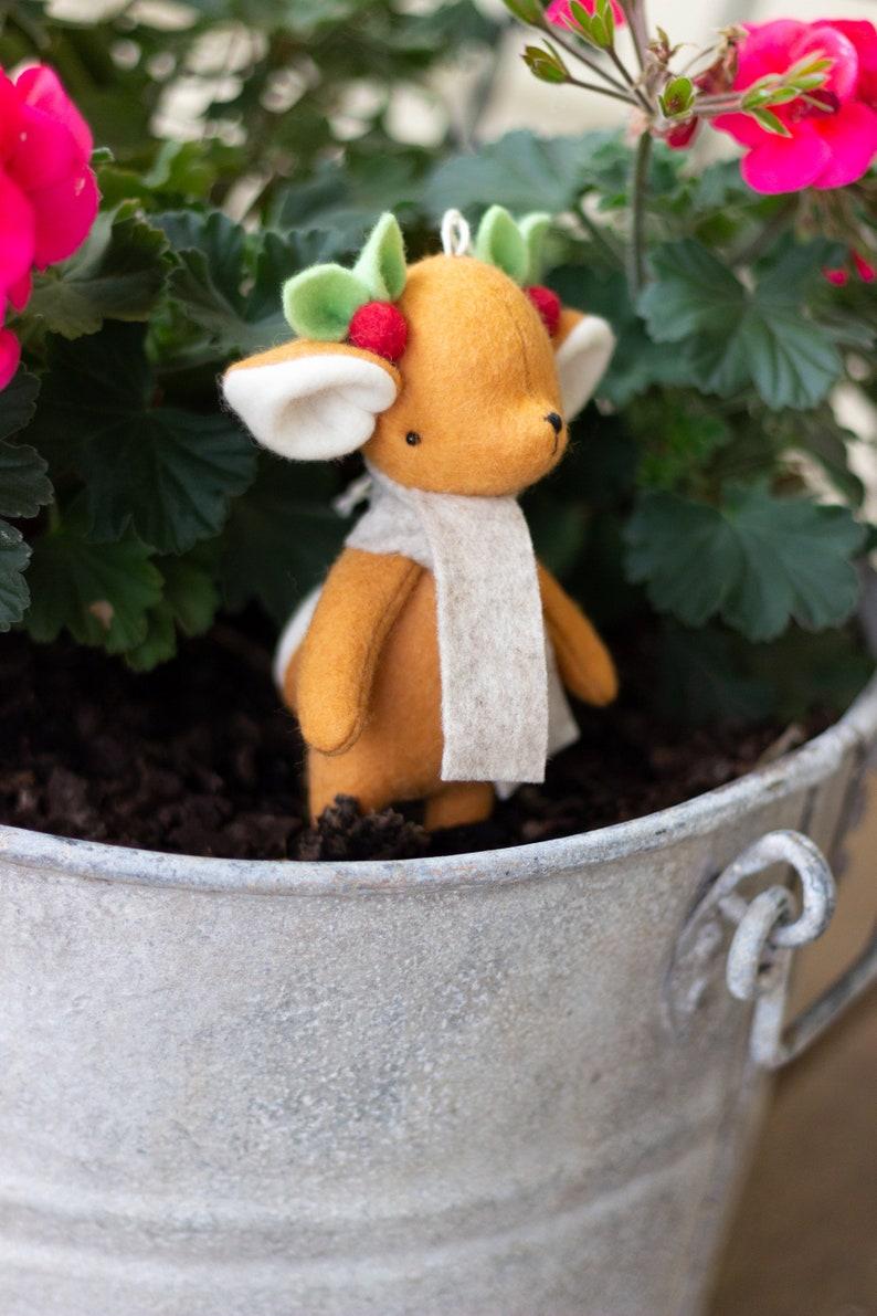 PDF Pattern  'Dash'  Felt Christmas Reindeer Softie image 0