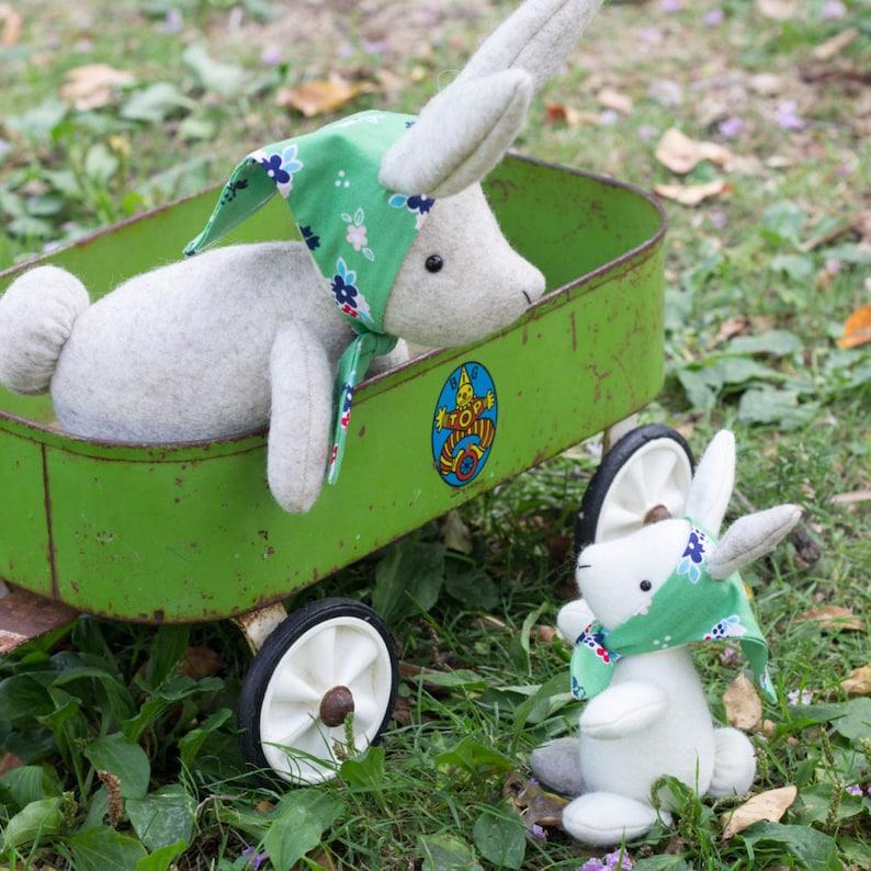 PDF Pattern  'Parsnip and Sable'  Felt Rabbit Mother image 0