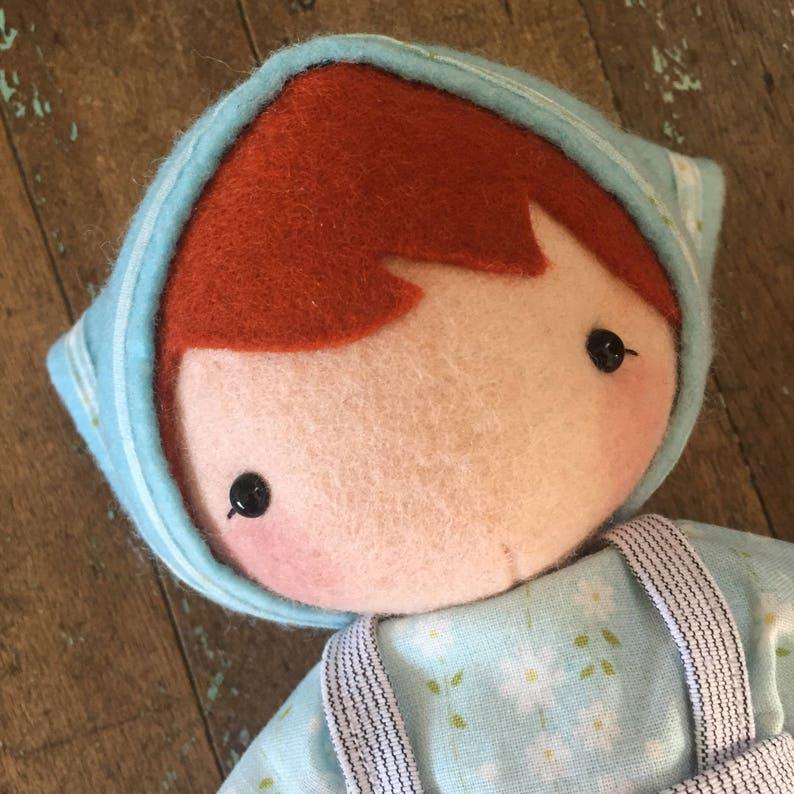 PDF Pattern  'Olga and Crumpet'   Felt Doll softie image 0