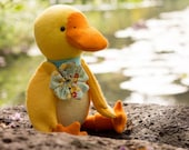 PDF Pattern - 'Digby' -  Felt Duck Softie -  Instant Digital Download - Plush Children's Toy - Easter Gift Idea