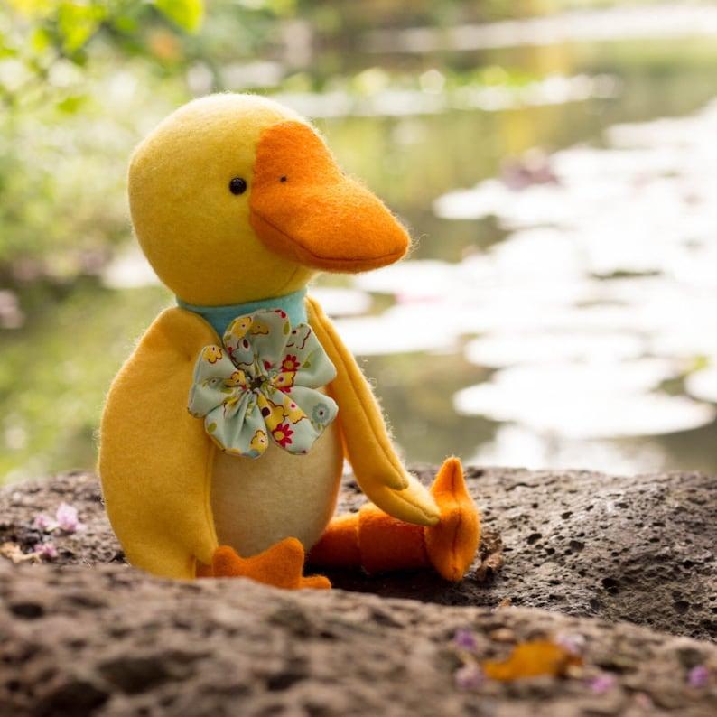 PDF Pattern  'Digby'   Felt Duck Softie   Instant image 0