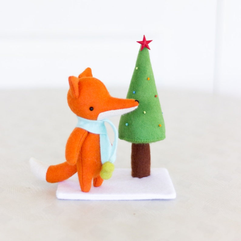 PDF Pattern  'Christmas Tree for Kip'  Felt Fox and image 0