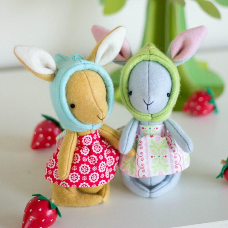 PDF Pattern  'Rhubarb'   Felt Rabbit Softies   image 0