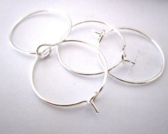 Set of 4 holders hoops 21MM silver