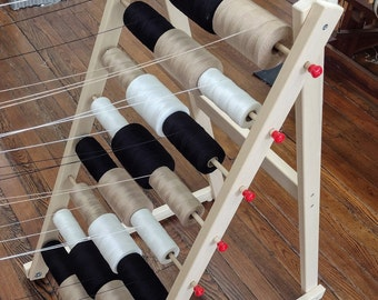 24 Spool Solid Wood Warp Rack Made by Ability Weavers