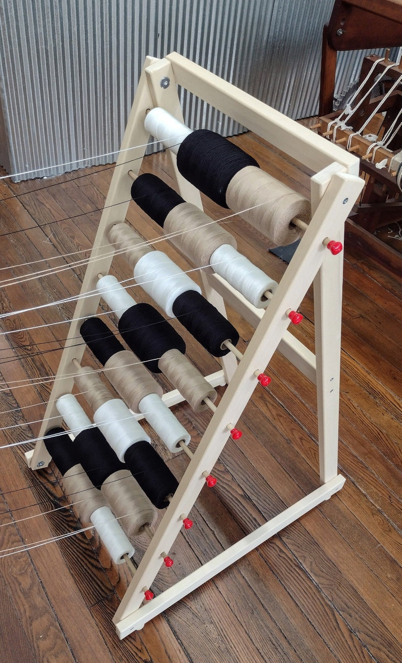 24 Spool Solid Wood Warp Rack Made by Ability Weavers image 1