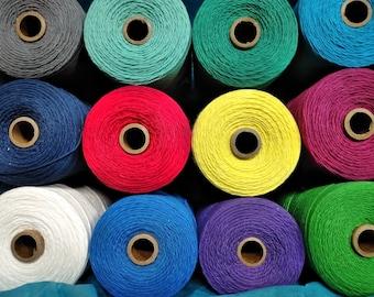 12 All Cotton Spools YOU CHOOSE COLORS, 8/4 Yarn Warp , Half pound spools