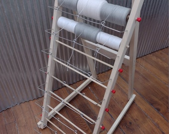 24 Spool Solid Wood Warp Rack w/Stainless Pigtail Guides