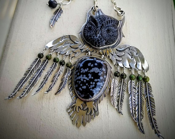 Kinetic Owl Pendant