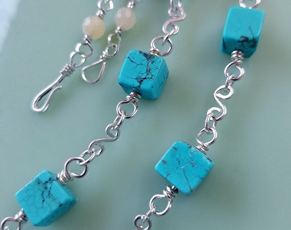 Turquoise  & Calcedony necklace