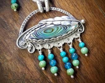 Blue Eye Kinetic Pendant, Eye of Horus, Greek Eye