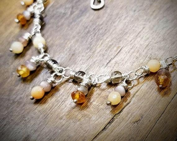 Gem Dangle Necklace