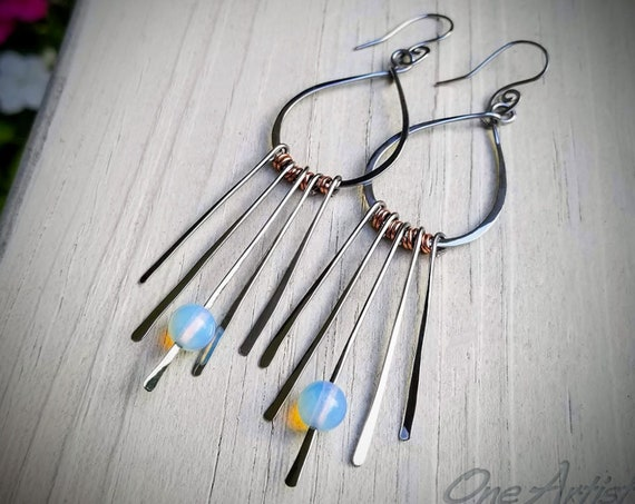 Moonstoned Fringe Earrings