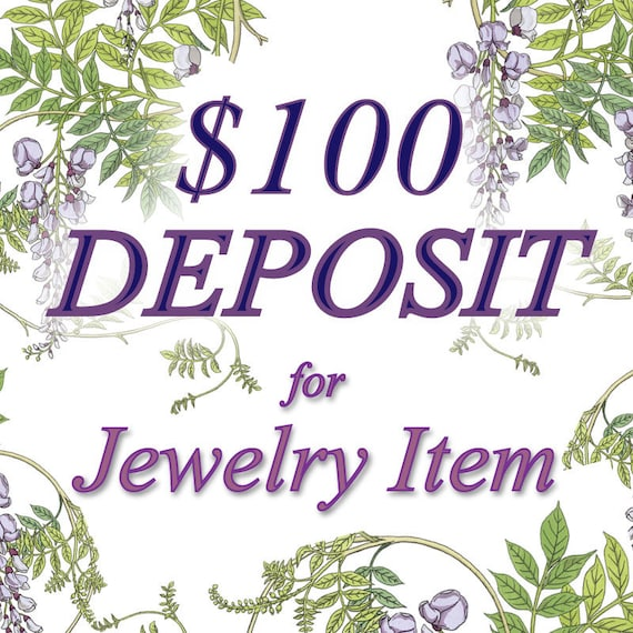 100 Dollar Payment Plan for Sterling Silver & Gold Jewelry, Purchase Here, gemstone ring, pendant, bracelet, earrings