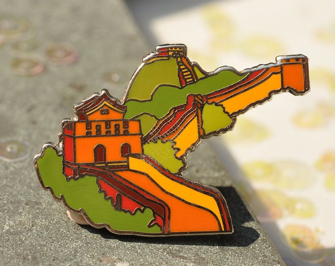 The Great Wall of China Hard Enamel Pin