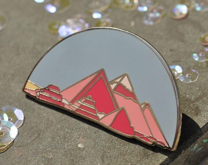 Pyramids at Giza hard enamel pin