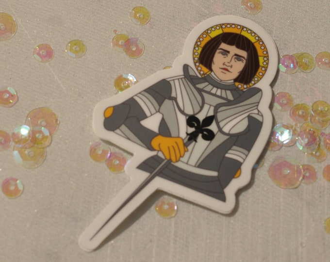 Joan of Arc Sticker (Die Cut)
