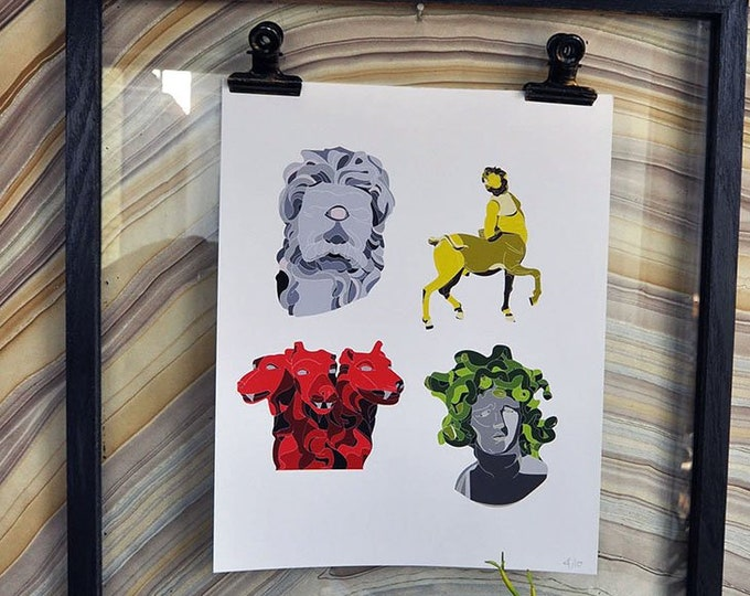 "Beasts of the Ancient World Collection 8"" x 10"" Giclée Art Print on Archival Matte Paper Active"