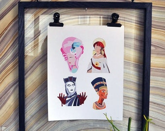 "Crown Jewels Collection 8"" x 10"" Giclée Art Print on Archival Matte Paper Active"