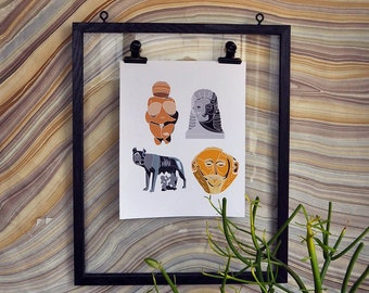 "Intro to Art History Collection 8"" x 10"" Giclée Art Print on Archival Matte Paper"