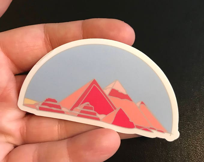 Pyramids at Giza Sticker (Die Cut)