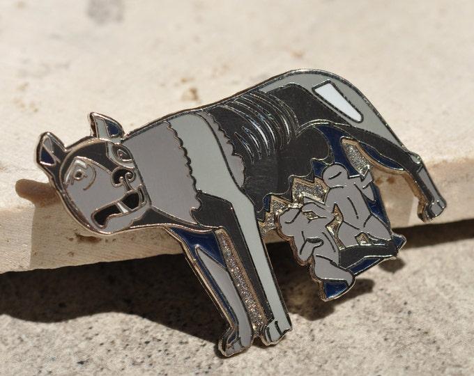 Capitoline Wolf Hard Enamel Pin