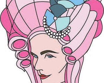 Marie Antoinette Die-Cut Sticker