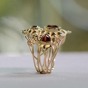 Coffee Cup Golden Ring Smoky Quartz Ring Gold Ring Joke   Etsy