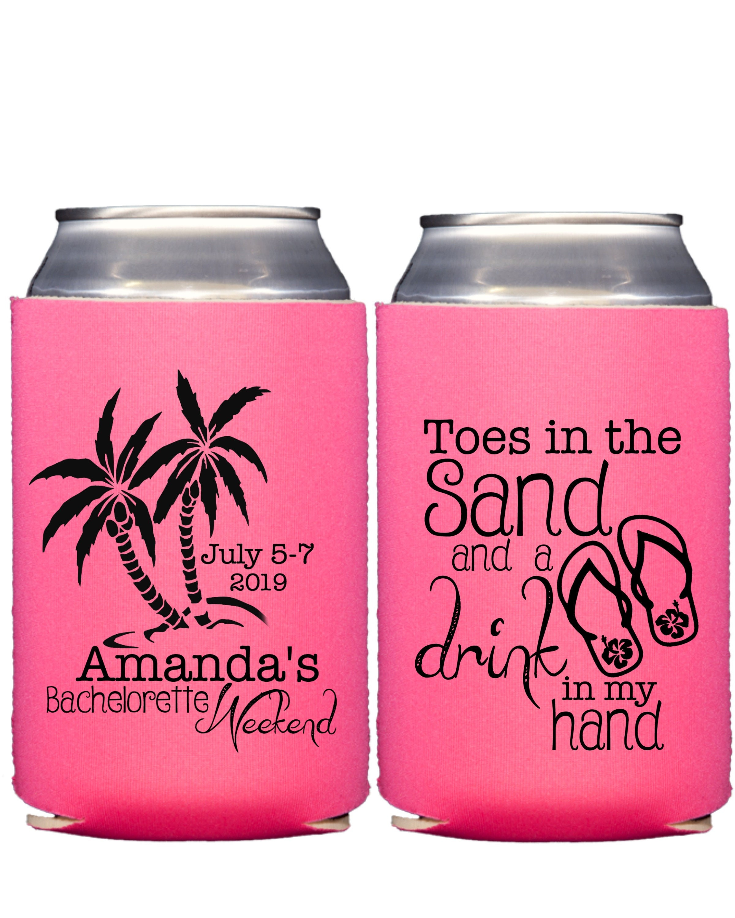 Beach Wedding Can Coolers Wedding Can Coolers Bachelorette
