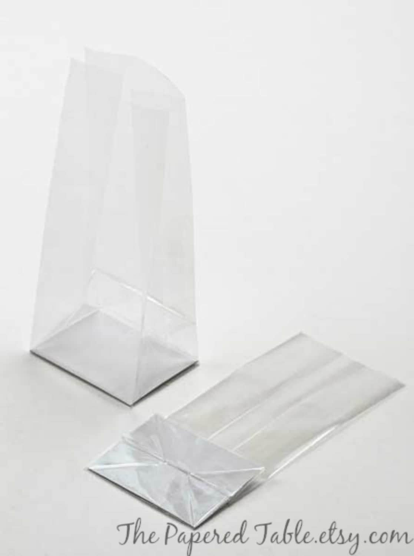Clear Cello Bags 12 Cellophane Bags CAKE POP BAGS Mini