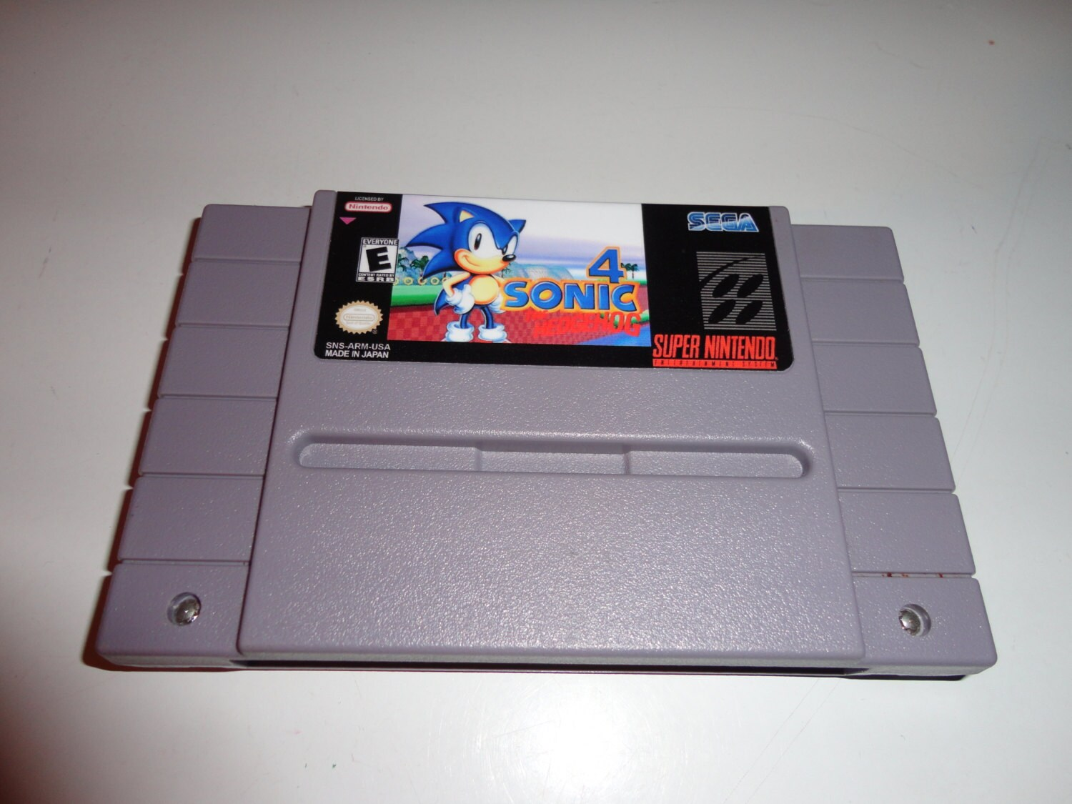 Sonic The Hedgehog 4 Snes Reproductoin Cart Super Nintendo Etsy