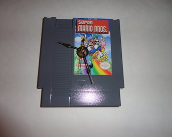 Custom NES Super Mario Bros. Wall Clock Quartz Nintendo Mario Luigi Decoration Color GREY
