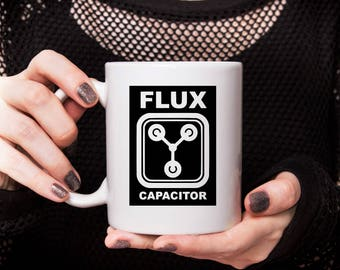 Flux Capacitor Decal, Back to the Future Decal, Michael J Fox Decal, Science Fiction, Delorian, Marty McFly, Yeti Decal, Vinyl Decal, Kicks