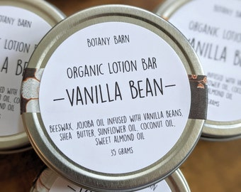 Organic Solid Lotion Bar - Natural Handmade Lotion Bar, Choose from Four Scents, Made with Organic Oils and Butters, Sustainable Skincare