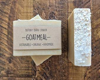 Oatmeal, Milk & Honey Soap, Organic Goat's Milk Soap, Honey Soap, Sensitive Skin Soap, Handmade Organic Soap, Colloidal Oats, Unscented Soap
